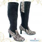 eb61bf0f66 Bota Feminina Ramarim veludo zebra 39