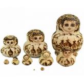 Matrioskas 10 Bonecas de Madeira
