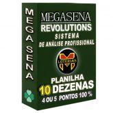 Planilha MEGA-SENA com 10 dezenas em 10 apostas 4, 5 ou 6 pontos 100%