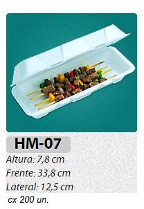 HM-07 BANDEJA RETANGULAR C/ TAMPA C/ 200 UN.