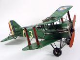Miniatura Avião De Guerra Retro Em Lata