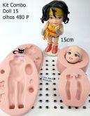 Boneca Kit combo doll 15 + 30 p olhos resinados 480 P