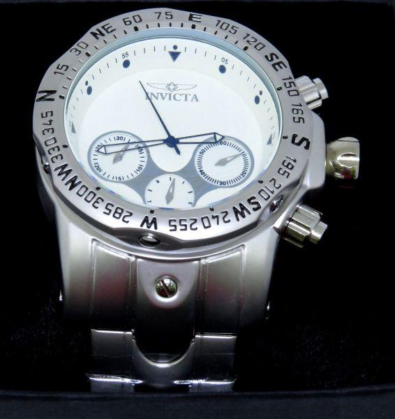 ccfe1fe59f5 Relógio Invicta Venon Reserve Todo Funcional Aço Fundo Branco ...