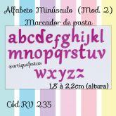 Alfabeto Minúsculo (Mod.2) Marcador de Pasta RV 235
