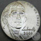5 CENTS (NICKEL) 2006 LETRA D FC
