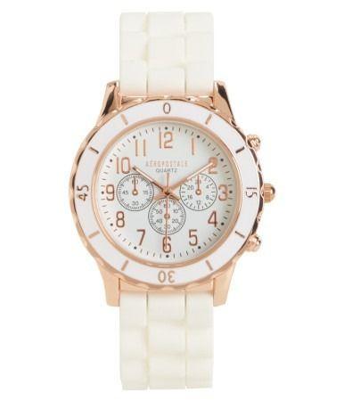 8b6f154618a Relógio Feminino Aeropostale Pulseira de Borracha BRANCA - Imports ...