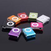 Mini Mp3 Player Shuffle + fone + cabo usb suporta cartão Até 32gb