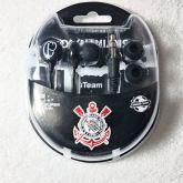 Fone de ouvido do Corinthians Preto fan timao