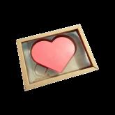 Caixa Coração Plano Pequeno 5un