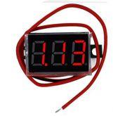 COD 1645 - Voltímetro Digital DC Vermelho - Alimentação 4,5 A 30V