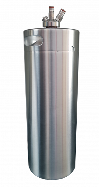Barril Growler Keg 10 Litros + Tampa Ball Lock Postmix