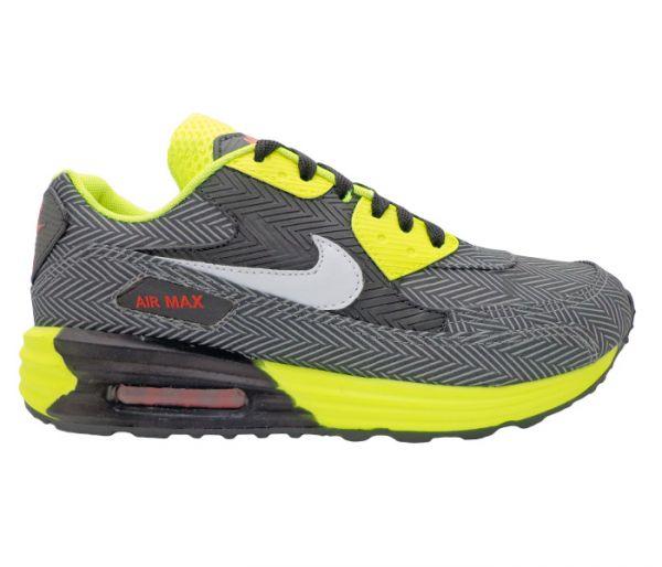 ... cheaper 57e77 791ea Tênis Nike Air Max 90 Preto e Verde Limão MOD 13171  Réplica ... d9719308e0f29
