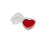 Estojo acrílico coração portas jóias e bijuterias médio caixinha coração