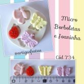 Micro Borboletas e Joaninha