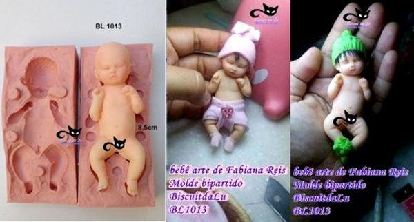 Bebê  3D Bipartido de frente com 8,5cm- ( BL 1013)