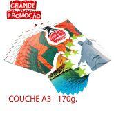 Impressão colorida - A3 - COUCHE  170g.