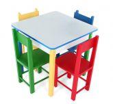 Mesa colorida quadrada cód:280317