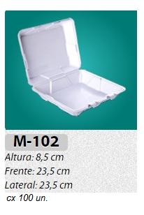 M-102 BANDEJA C/ TAMPA ARTICULADA C/ 100 UN.