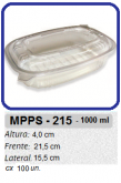 MPPS-215 EMBALAGEM PP 1.000 ML C/ TAMPA C/ 100 UN.
