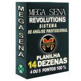 Planilha MEGA-SENA com 14 dezenas 30 apostas 4, 5 ou 6 pontos 100%