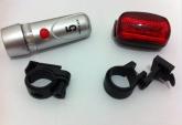 Kit de farol e lanterna para bicicletas modelo sibe