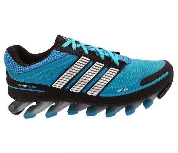 Tênis Adidas Springblade Azul Bebê e Preto - jvomodas f66d63083b8