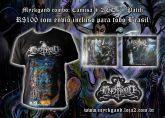 Pacote MYRKGAND Camisa Arachnodraco + 2 CDs + Patch (FRETE GRÁTIS)