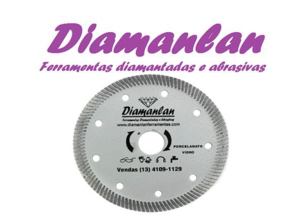 Disco Diamantado Porcelanato e Vidros Turbo 110mm