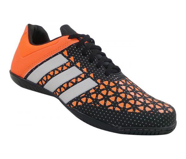 978f9d4bdf Tênis Futsal Adidas Ace 15.3 Preto e Laranja Lançamento - Speed Shoes