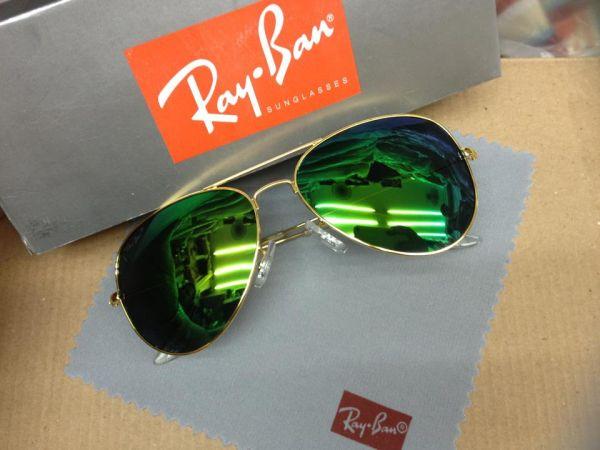 bb51bfc35 Óculos Ray-Ban Armação Dourada, Lentes Verde (Espelhada) - Ideal Import