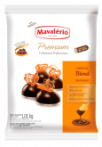 Cobertura em Gotas Premium p/ derreter Chocolate ao leite e meio amargo Blend Mavalério 1kg 1un