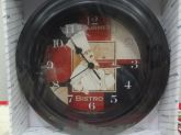 Relógio de Parede Bistrô Quartz 28 cm