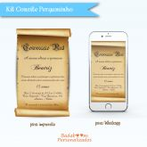 Kit Convite Pergaminho