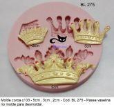 Coroas com 3 tamanhos - 1,5x2cm; 2x3cm e 2,3x5,5cm Cod.BL275
