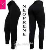Legging preta neoprene P(36/38) tecido grosso, macio e firme, média elasticidade