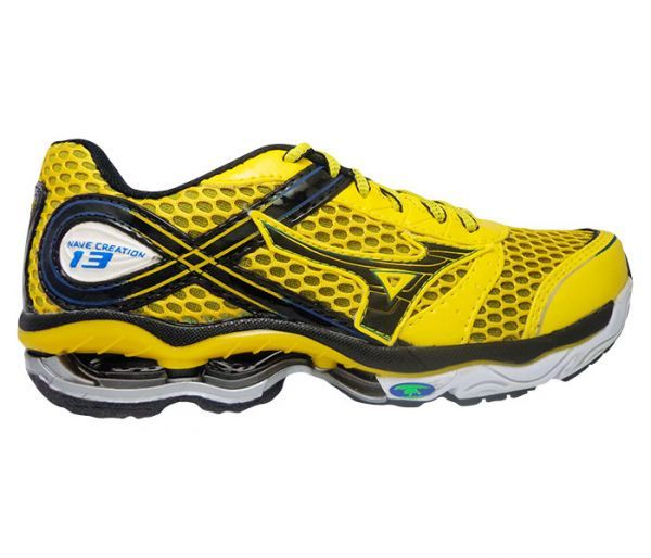 9efcdf9afe Tênis Mizuno Wave Creation 13 Amarela e Preto - CONTACT