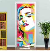 Adesivo para Porta Pop Art Madonna