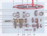 Entalhado do Cambio ou Arvore secundária (Niva) Usada Ref.0894