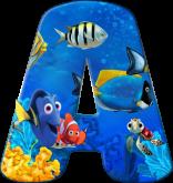 Alfabeto - Procurando Nemo 5 - PNG