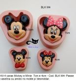 Kit  4 caras Mickey & Minnie