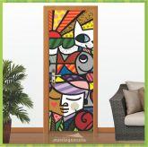 Adesivo Porta - Arte Romero Britto 1 - Criativo 080