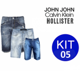 KIT 5 Bermudas Jeans Sortidas