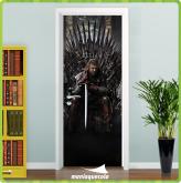 Adesivo Porta -  Game Of Thrones Stark - Porta 403