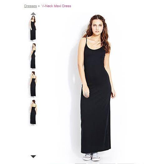 e2fa4f28c1e Vestido Longo preto (FOREVER 21) Importado - DAS Importados Original ...