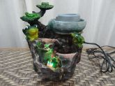 Fonte Decorativa Gruta Azul C/bomba De Água e Led - 220 V