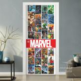 Adesivo para Porta Marvel  Personagens
