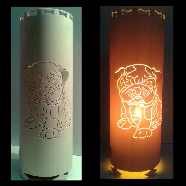 Artesanato Com Garrafa Pet Para Pascoa ~ Luminária em PVC Bulldog 3D014D TRA u00c7O DE LUZ LUMINÁRIAS