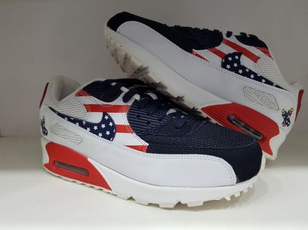 017b1715ca2 Tênis Nike Air Max 90 Premium USA - Outlet Ser Chic
