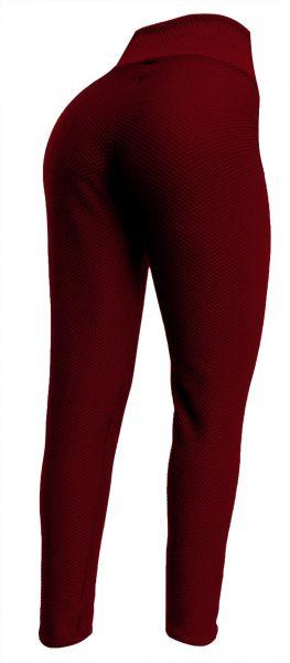 Calça legging(56/58) plus size vermelho escuro em tecido jacquard piquet