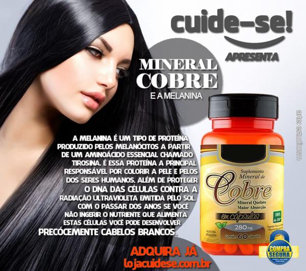 COBRE QUELATO -  900mcg - 60 CÁPSULAS